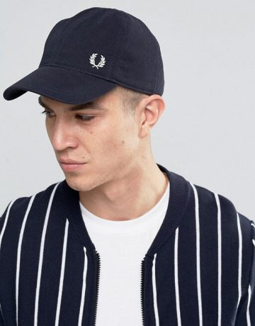 Fred Perry Pique Baseball Cap With Logo