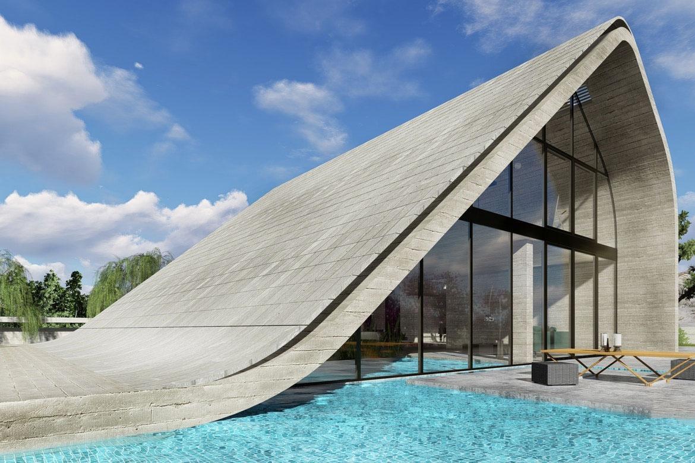 innovative desert house with tesla solar roof creativo manhattan. Black Bedroom Furniture Sets. Home Design Ideas