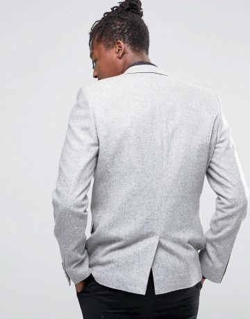 ASOS Slim Blazer 100% Wool in Grey