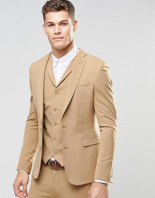 d602705cccf Super Skinny Fit Suits In Camel – ShopKeeper