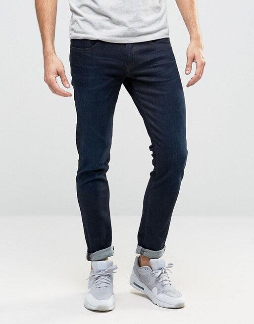 boss orange by hugo boss 72 skinny fit jeans dark wash. Black Bedroom Furniture Sets. Home Design Ideas