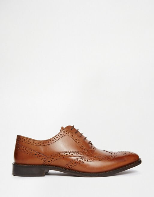 top quality separation shoes top brands ASOS Oxford Brogue Shoes in Tan Leather – ShopKeeper
