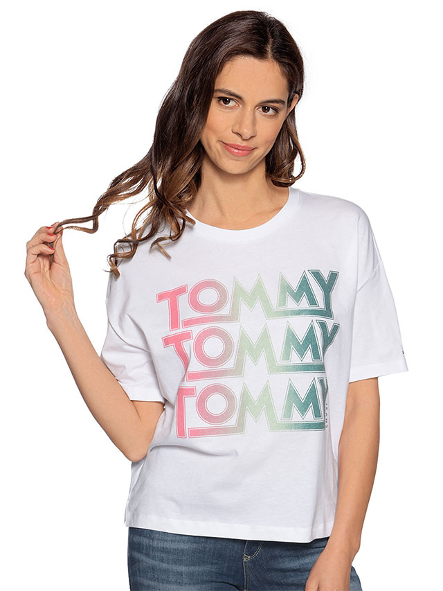 Tommy Jeans TJW CN White T-Shirt
