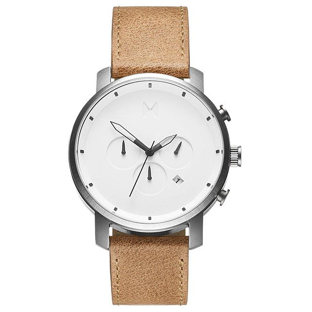 MVMT Chrono White Caramel Watch